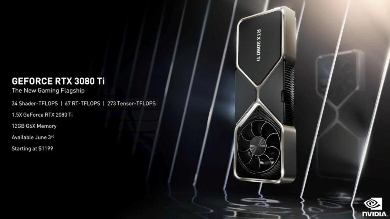 Nvidia presentó su nueva gama alta de placas de video: GerForce RTX 3080 Ti, además de la 3070 Ti