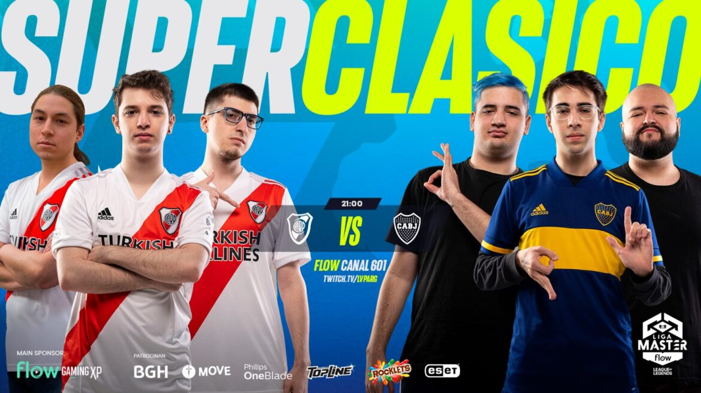 Liga Master Flow: Boca Juniors y River Plate se enfrentan en el tercer Superclásico de LoL