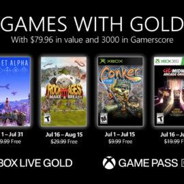 Xbox Live Gold anunció sus juegos gratuitos de julio