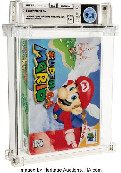 Venden una copia de Super Mario 64 en más de 1,5 millones de dólares