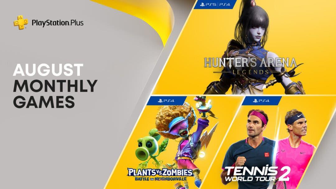 PS Plus de agosto: cuáles son los tres juegos gratuitos para PS4 y PS5